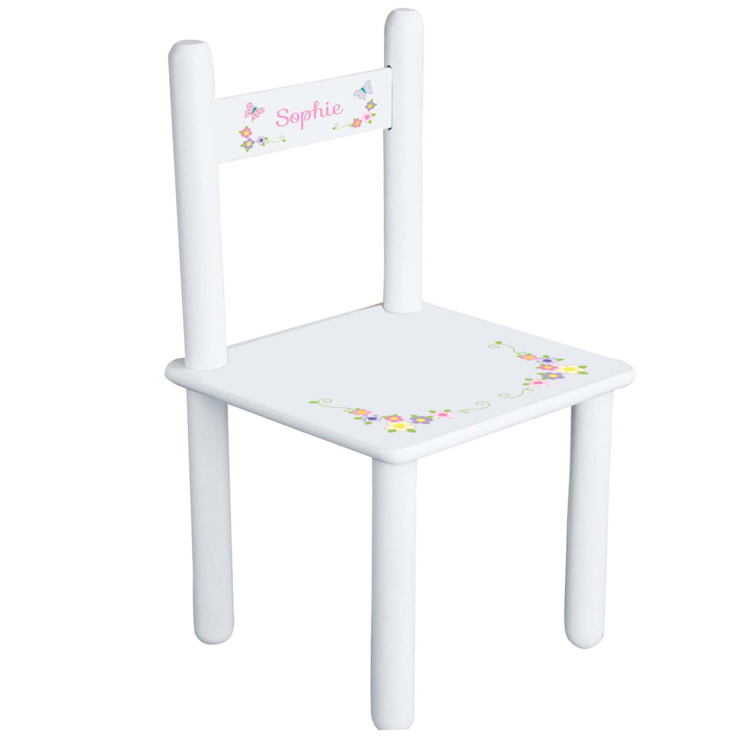 Pastel Butterfly Garland Chair