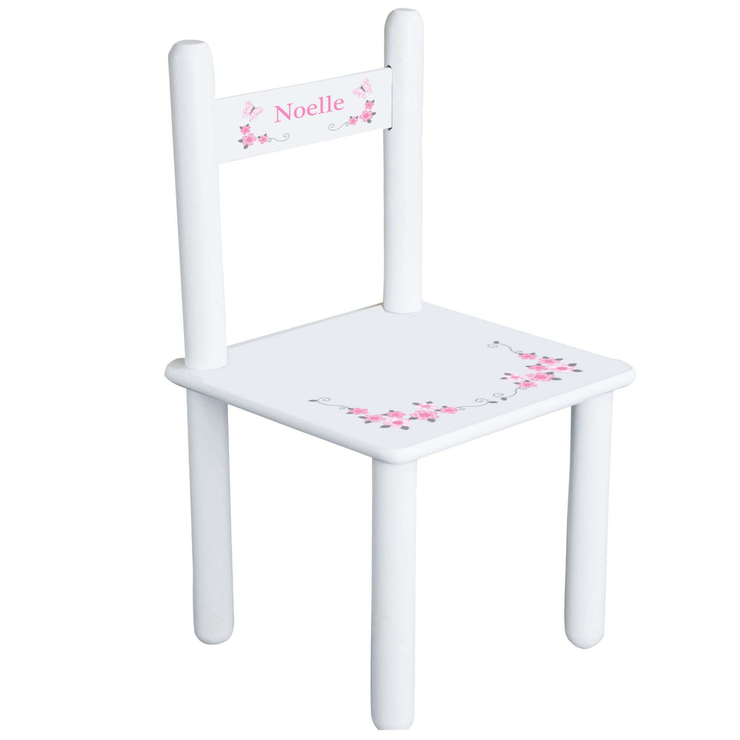 Pink Gray Butterfly GarlandChair