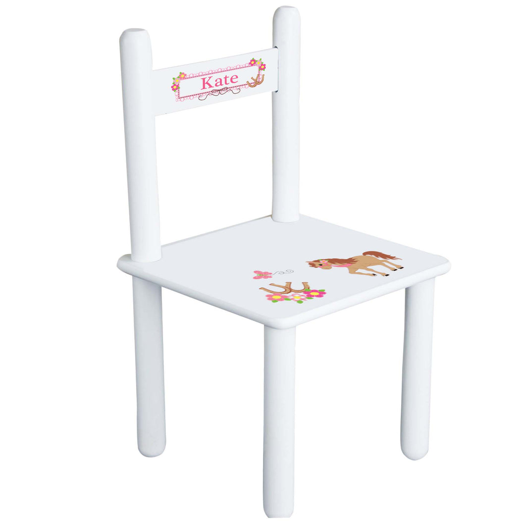 Personalized Prancing Pony Chair