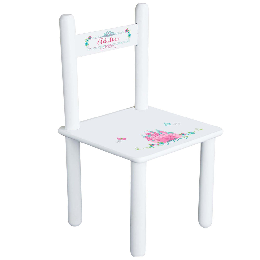 Pink Teal Princess Castle Chair