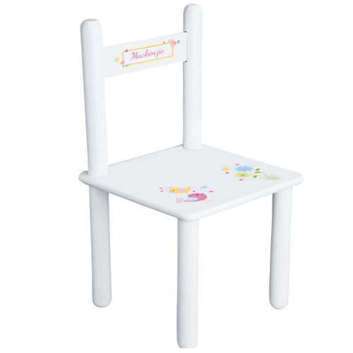Personalized Child's Love Birds Chair