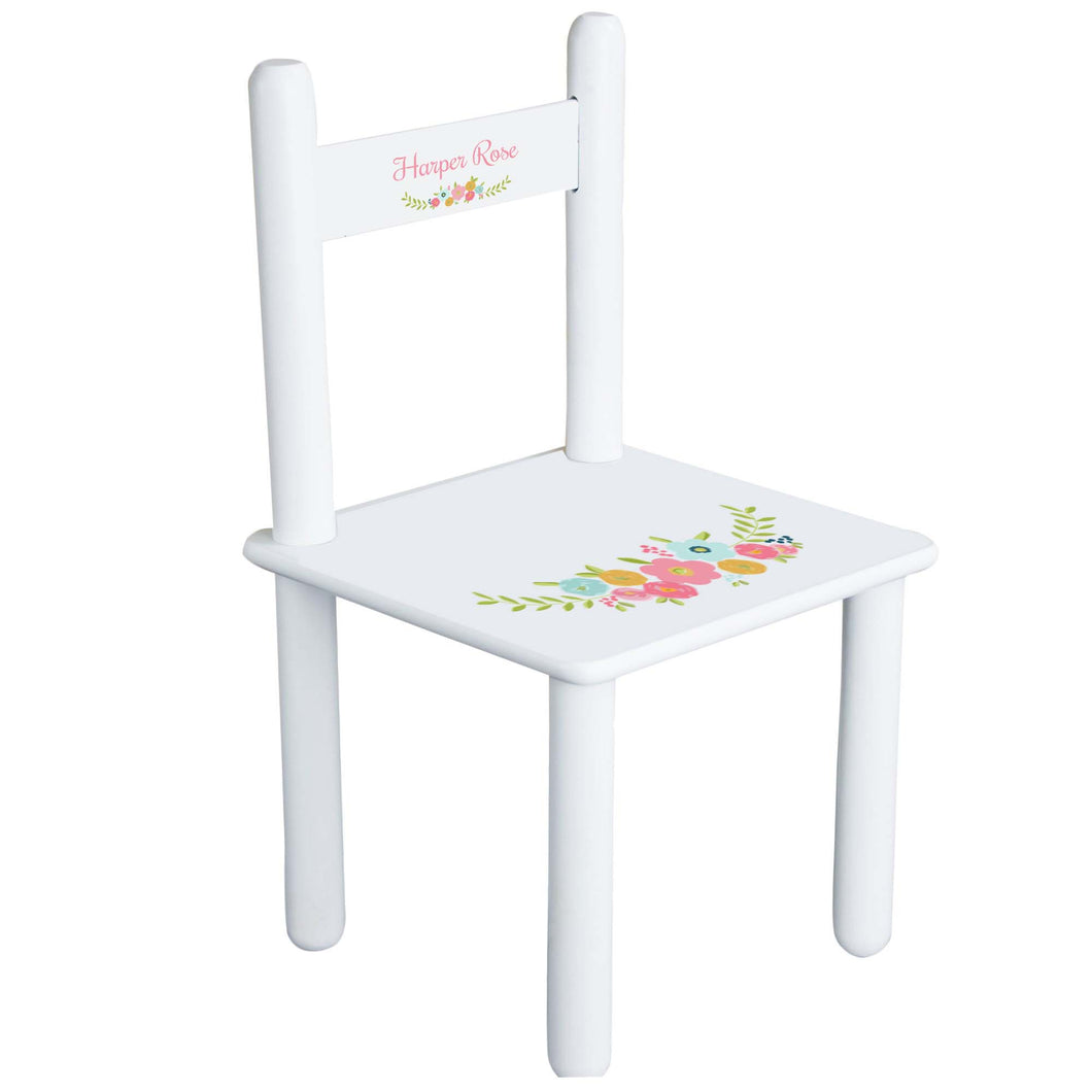 Personalized Spring Floral Chair