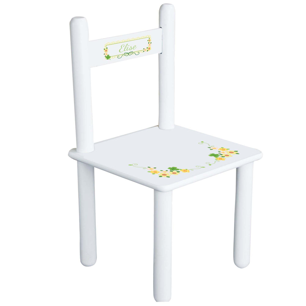 Personalized Shamrock Chair