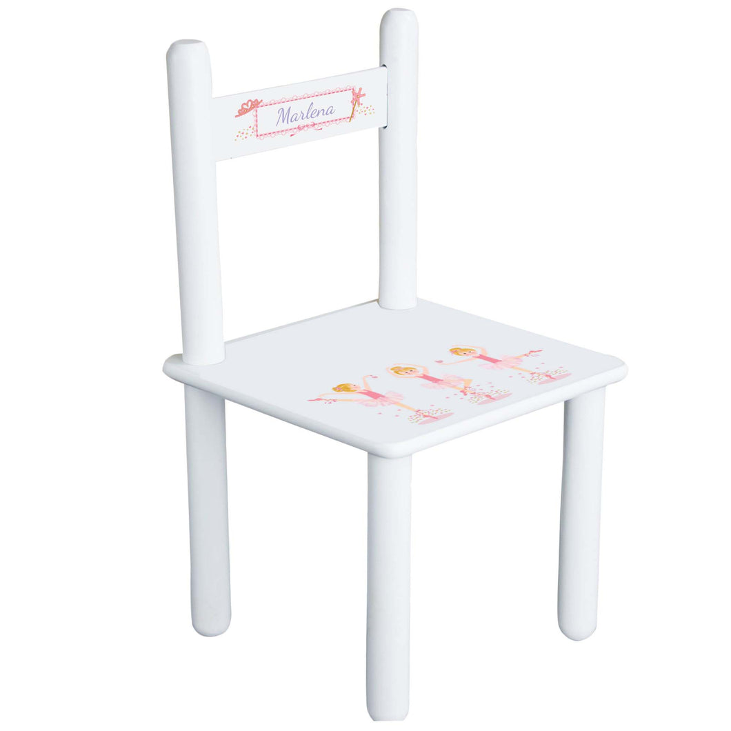 Personalized Blonde Ballerina Chair