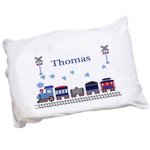Personalized Train Boy Pillowcase
