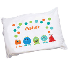 Personalized Childrens Little Monster Pillowcase