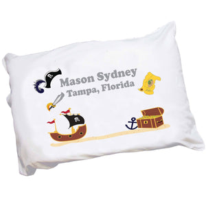 Personalized Childrens Pillowcase with Pirate design
