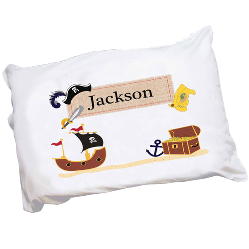 Personalized Childrens Pirate Pillowcase