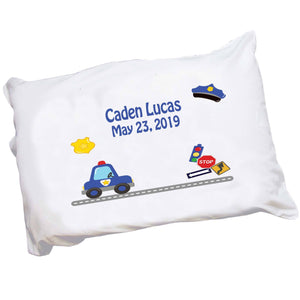 Personalized Childrens Pillowcase with Police design