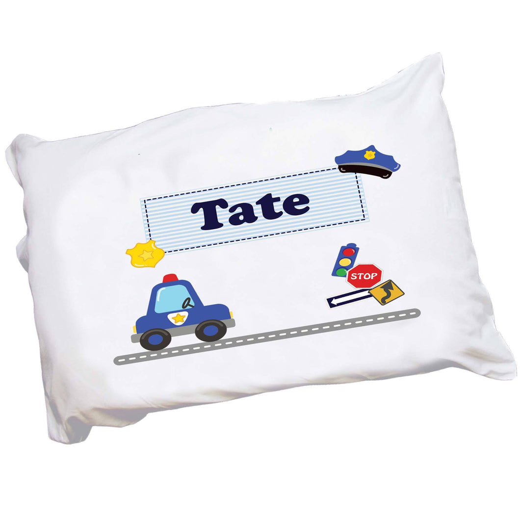 Personalized Police Car Pillowcase