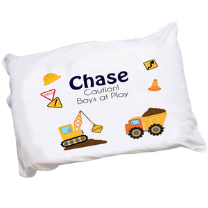 Personalized Construction Pillowcase