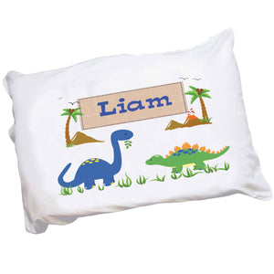 Personalized Childs Dinosaur Pillowcase