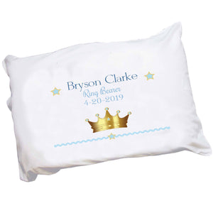 Personalized Prince's Crown Pillowcase
