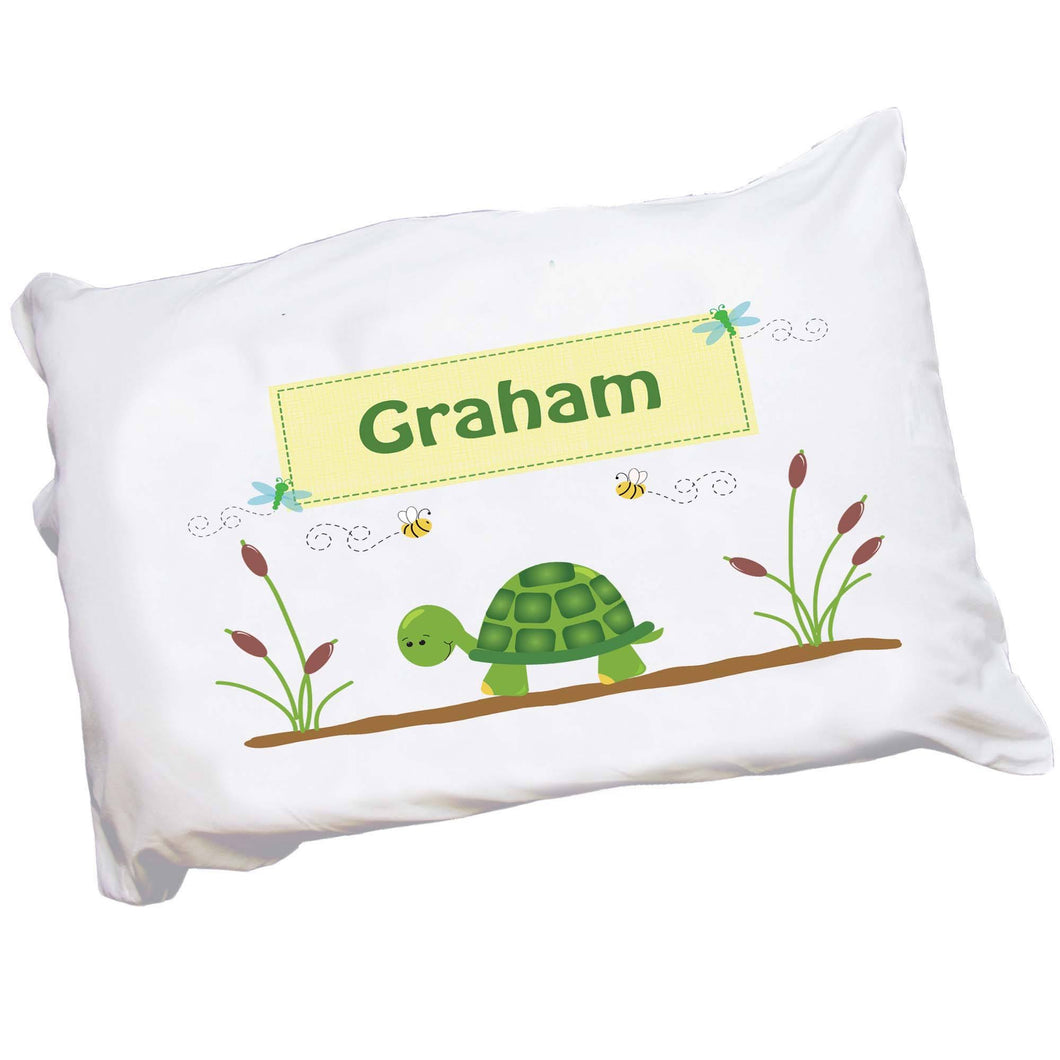 Personalized Childrens Pillowcase with Turtle design