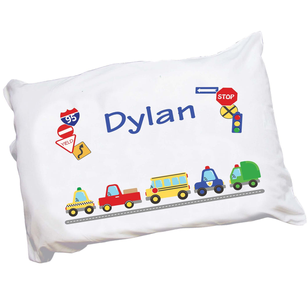 Personalized Cars and Trucks Pillowcase