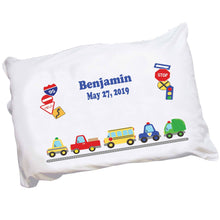 Personalized Transportation Vehicles Pillowcase