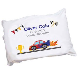 Personalized Race Car Pillowcase