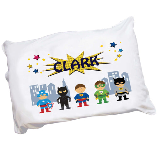 Personalized Super Hero Pillowcase for Boy