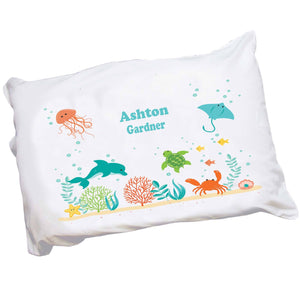 Personalized Childrens Sea Life Pillowcase