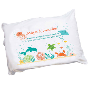 Personalized Sea Life Pillowcase