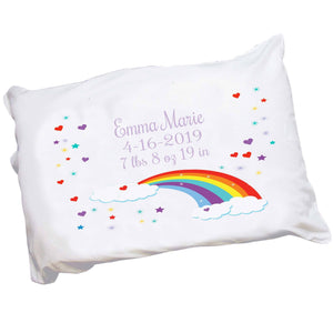 Personalized Rainbow Pillowcase
