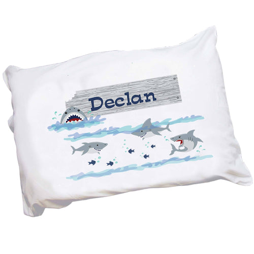Personalized Childs Shark Pillowcase