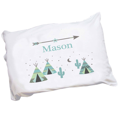 Personalized Childrens Southwest Tee Pee Pillowcase