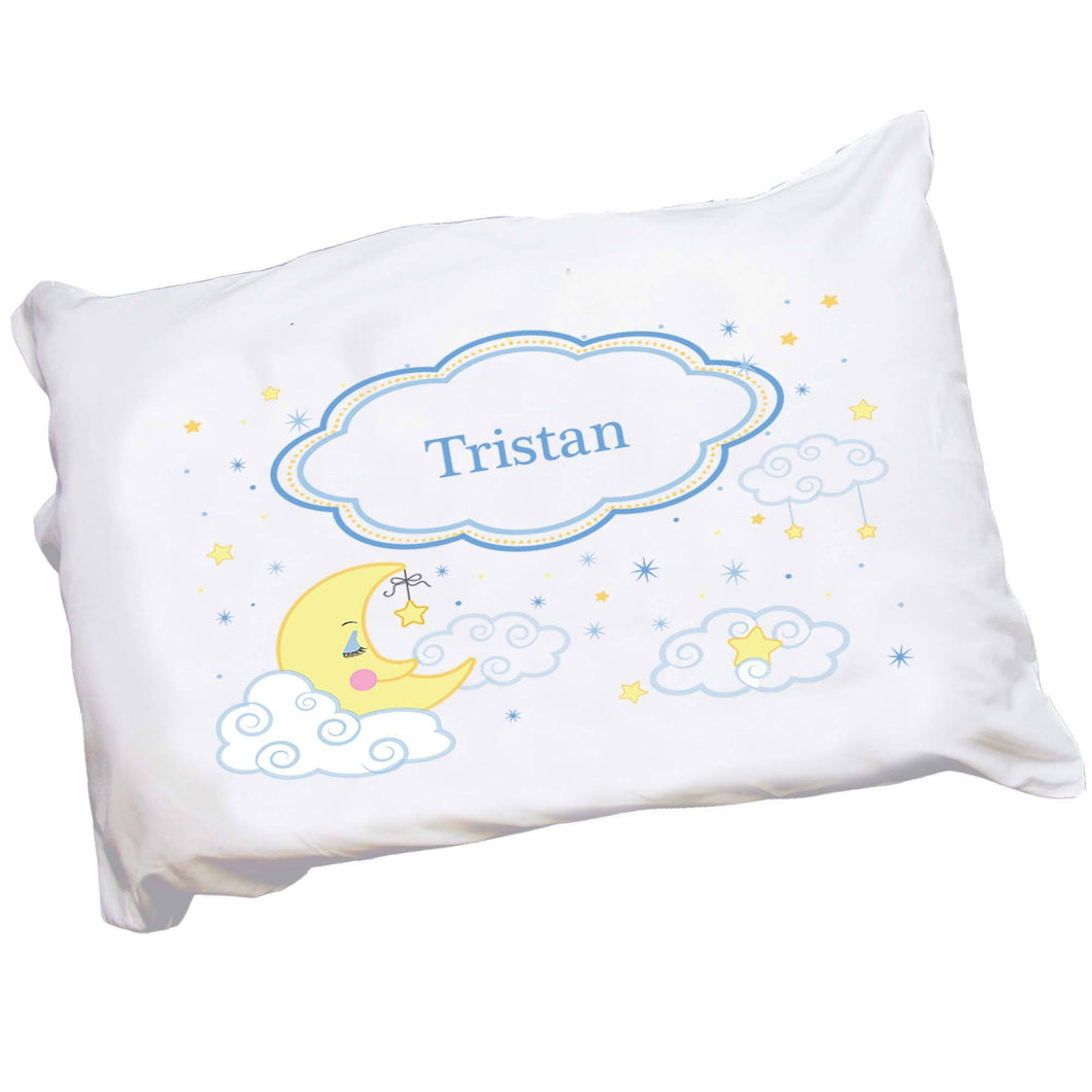 Personalized Childrens Moon and Stars Pillowcase