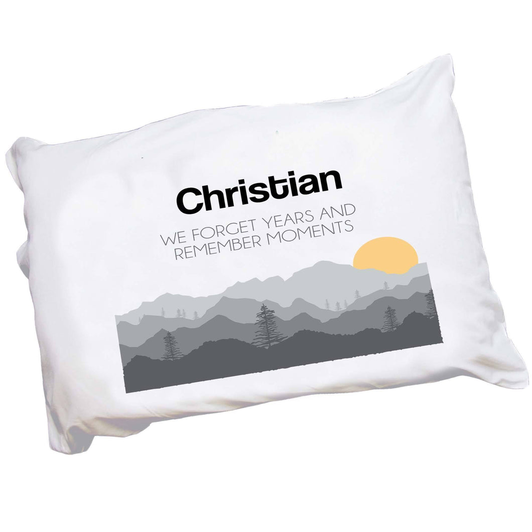 Personalized Misty Mountain Pillowcase