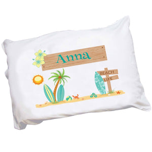 Personalized Surfer Pillowcase