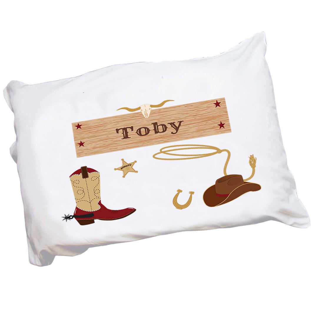 Personalized Childrens Cowboy Pillowcase