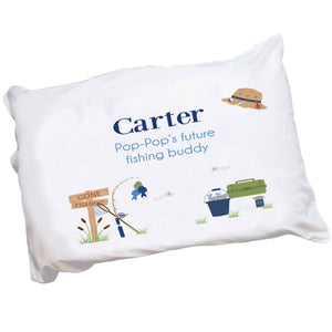 Personalized Gone Fishing Pillowcase