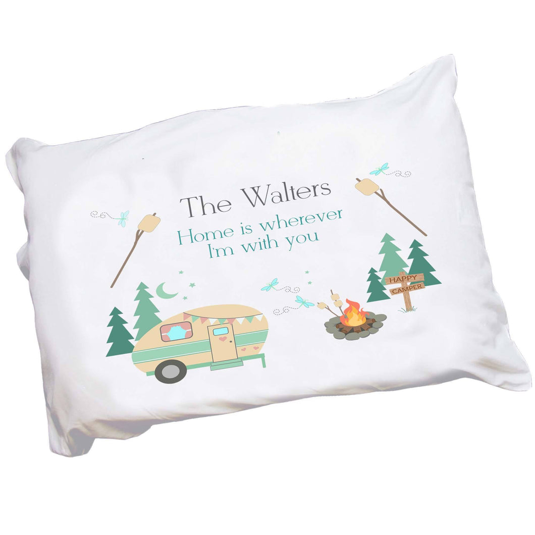 Personalized Camp S'mores Pillowcase