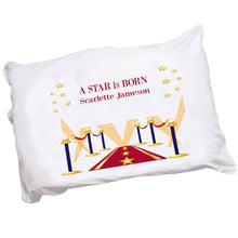 Personalized Childrens Pillowcase with A Star Is Born Blue design