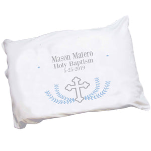 Personalized Lt Blue Cross Pillowcase