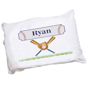 Personalized Boys Baseball pillowcase