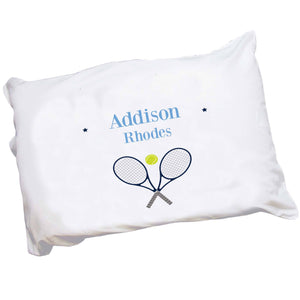 Personalized Childrens Pillowcase with Tennis design