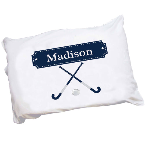 Personalized Childrens Pillowcase with Field Hockey design