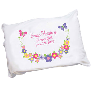 Bright Butterfly Garland Pillowcase