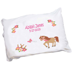 Girls Little Pony Personalized Pillowcae