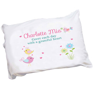 Personalized Love Birds Pillowcase