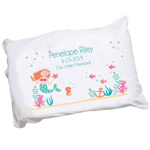Personalized Girl's Mermaid Pillowcase