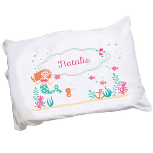 Girls Personalized Little Mermaid Pillowcase Bedding
