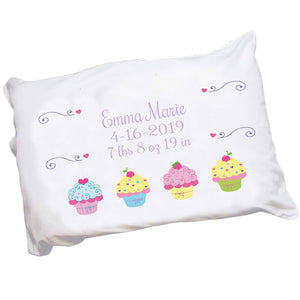 Personalized Cupcake Pillowcase