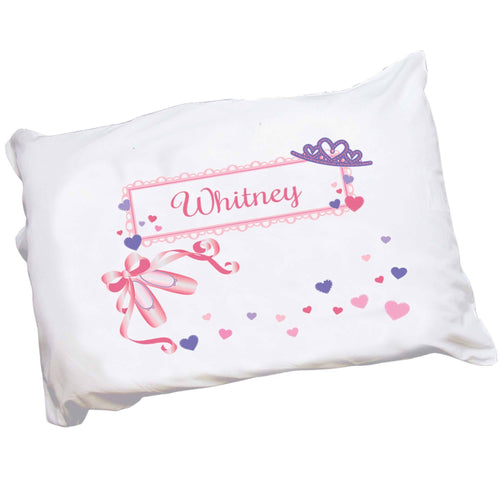 Personalized Childrens Pillowcase with Ballet Princess design