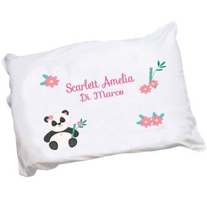 Personalized Childrens Pillowcase with Panda Bear design