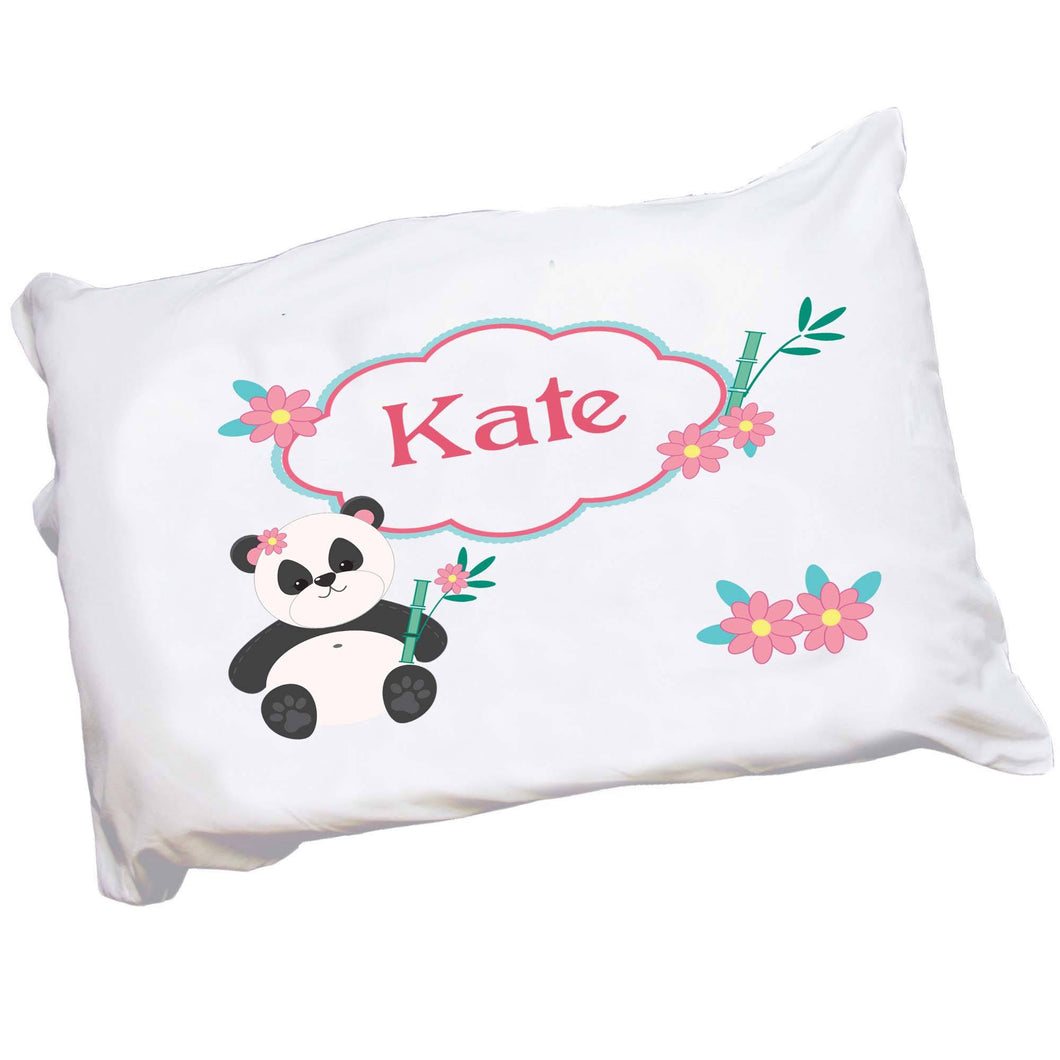 Personalized Panda Bear Pillowcase
