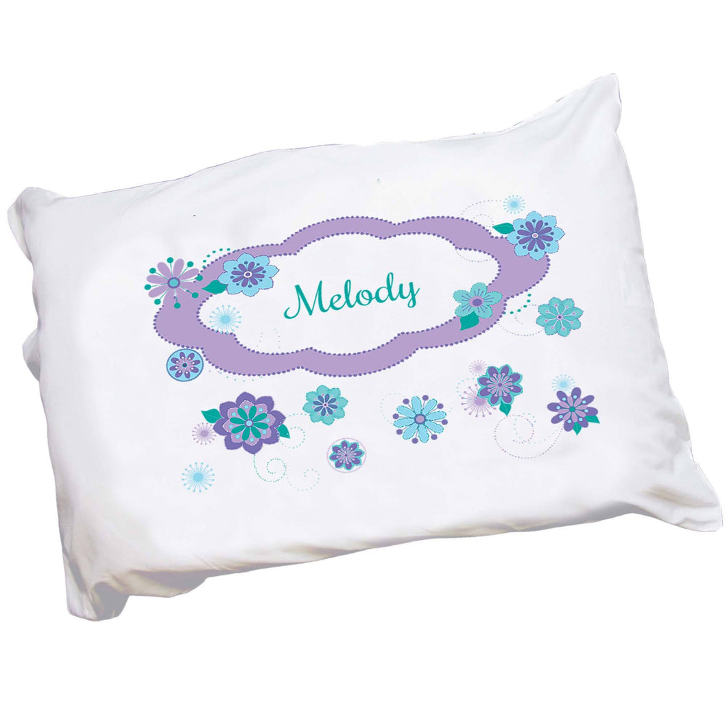 Personalized Childrens Pillowcase with Florascope design