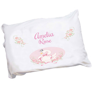 Personalized Princess Swan Pillowcase