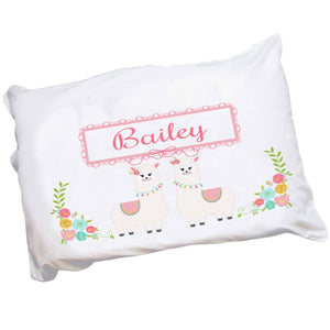 Personalized Llama Pillowcase with Alpaca Llama design